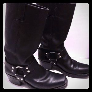 Women's Black Frye 12R Harness Engineer Moto Boots
